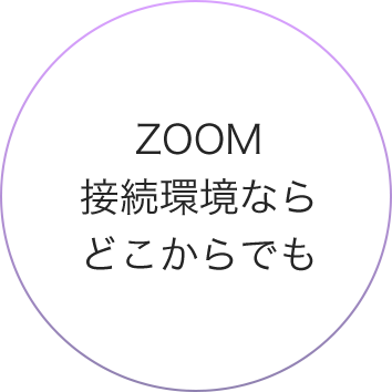 Zoom接続環境ならどこからでも